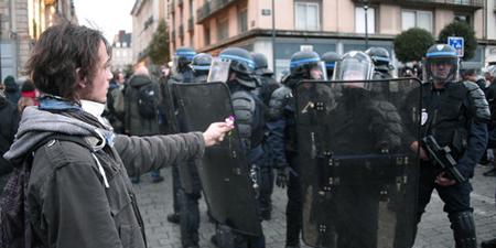 Paris, le 13 novembre, les étudiants face à la police