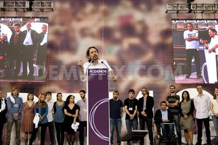 Pablo Iglesias, très présent comme «citoyen»