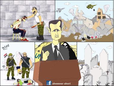 Malgré les bombes et les tortures, Bachar Al-Assad est toujours aux commandes… Crédits: Abonnour Alsori