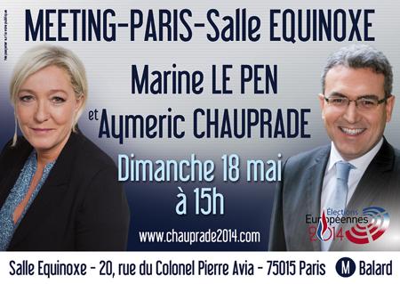 Marine Le Pen et Aymeric Chauprade
