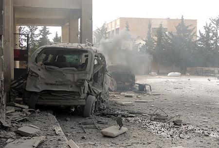 Idlib bombardée (novembre 2014)