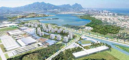 Maquette du village olympique à Rio pour 2016