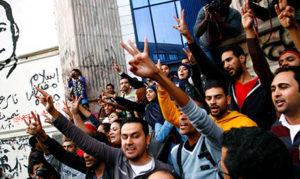 Le 2 décembre: les journalistes protestent contre le verdict en faveur de Moubarak