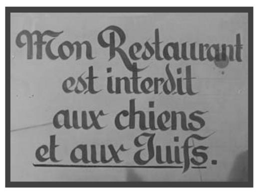 Affiche collée dans une brasserie de Strasbourg fin 1938