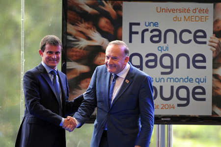 Manuel Valls et Pierre Gattaz