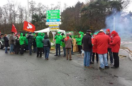 Piquet de grève dans la région liégeoise