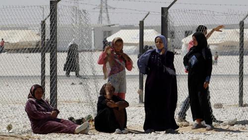 Des femmes syriennes dans un camp en Jordanie, novembre 2013