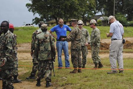 Soldats américains «combattant» Ebola au Liberia