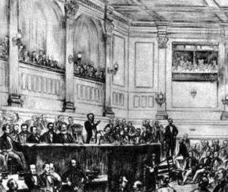 Réunion de fondation de l'Association internationale des travailleurs Londres, 1864