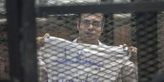 Le militant politique et fondateur du Mouvement du 6 avril, Ahmed Maher, a été condamné en décembre 2013 au Caire à trois ans de prison