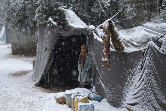 Camp de réfugiés de Salkin, au nord d'Idlib, en Syrie,  le 10 janvier. | KHALIL ASHAWI / REUTERS