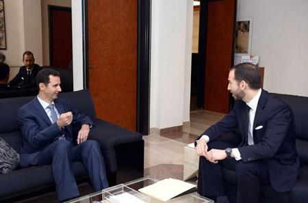 Bachar Al-Assad donne un entretien au magazine américain «Foreign Affairs», à Damas le 26 janvier 2015. | SANA / REUTERS