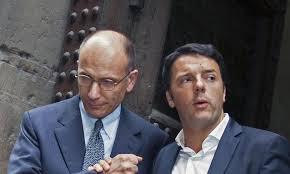 Enrico Letta et Matteo Renzi