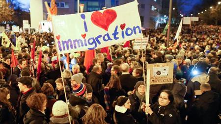 Manifestation contre Pegida à Cologne, le 5 janvier 3015