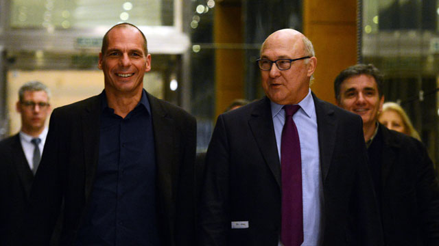 Récente rencontre de Yanis Varoufakis avec Michel Sapin à Paris