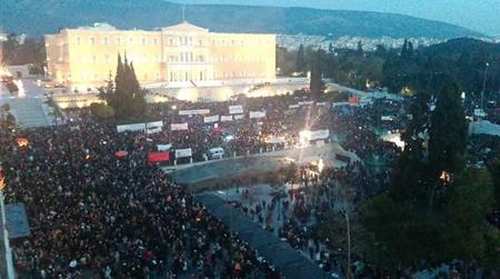Place Syntagma, le samedi 15 février 2015