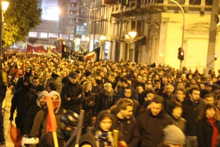 Manifestation antifasciste à Omonia le 31 janvier 2015