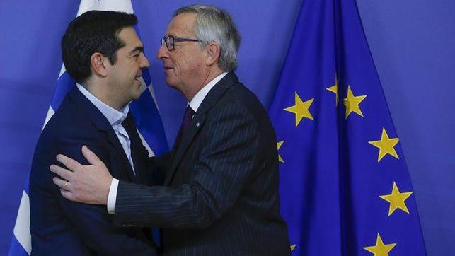 Alexis Tsipras et Jean-Claude Juncker, le 4 février 2015