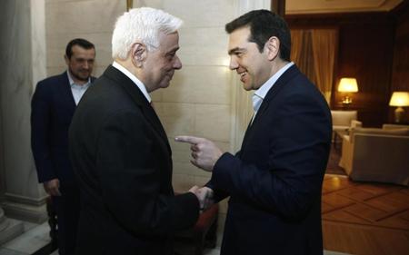 Prokopis Pavlopoulos et Alexis Tsipras