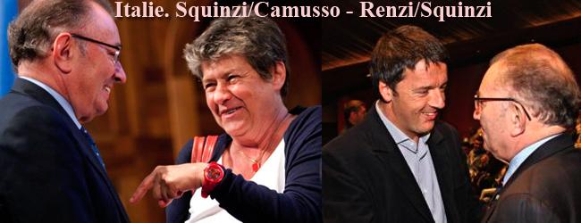 Le syndicalisme italien face au couple Renzi-Squinzi