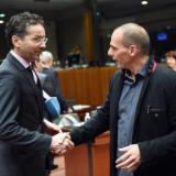 Jeroen Dijsselbloem et Yannis Varoufakis