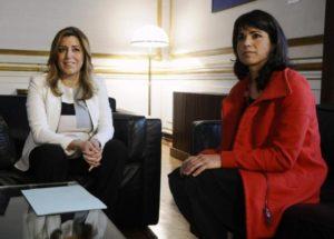 Susana Diaz et Teresa Rodiguez (26 mars 2015)