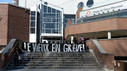 Le Cégep du Vieux-Montréal en grève (23 mars 2015)
