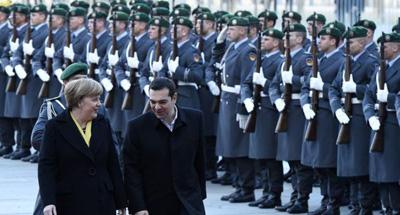 Tsipras et Merkel le 23 mars 2015