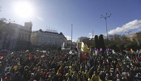 Marches de la dignité arrivant à Madrid le 22 mars 2014