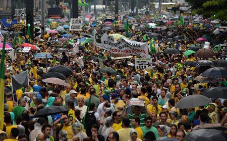 Manifestation contre le gouvernement Rousseff, Sao Paulo,  le 15 mars 2015