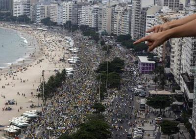 Manifestation contre le gouvernement de Dilma Rousseff, Rio, 15 mars 2015
