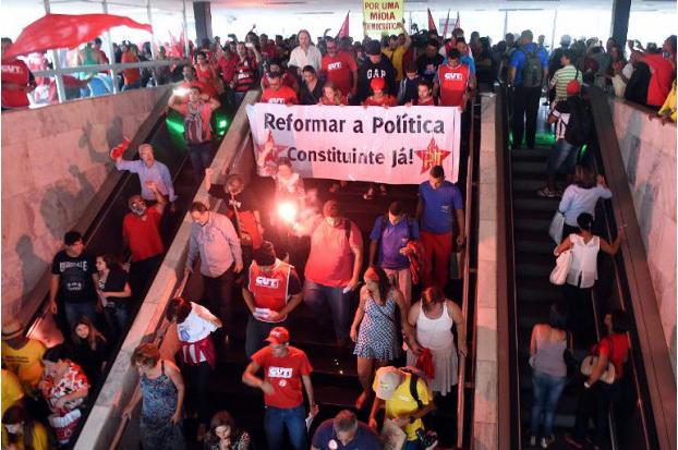 Manifestation de soutien à Dilma Rousseff, Brasilia,  le 13 mars 2015