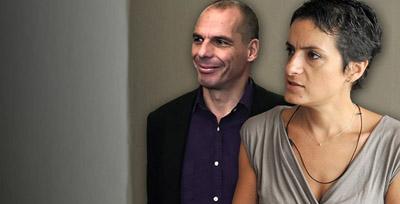 Yanis Varoufakis et Elena Panaritis
