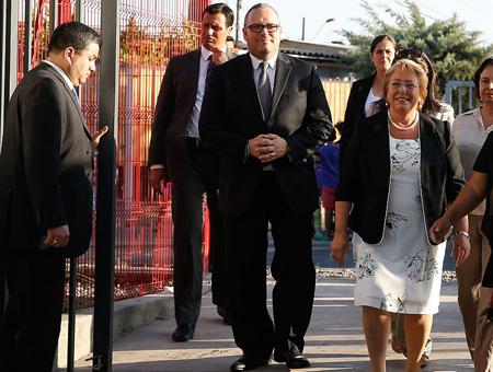 Michelle Bachelet et son fils Sebastián Dávalos
