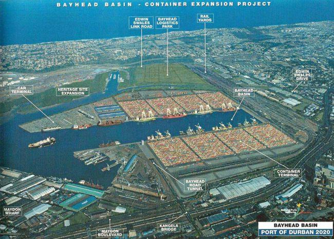 Porjet de nouveau port à Durban