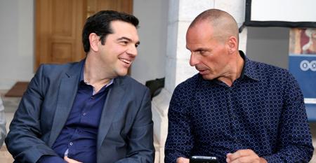 Alexis Tsipras et Yanis Varoufakis