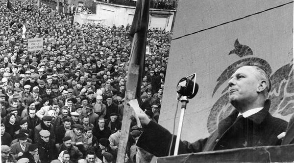 André Renard, lors de la grève générale de 1960-1961