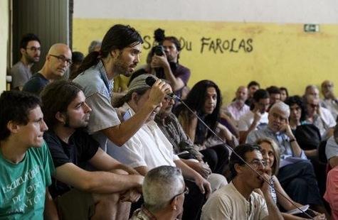 Assemblée de Ganemos Madrid, le 6 juin 2015, dans une ancienne fabrique de tabac