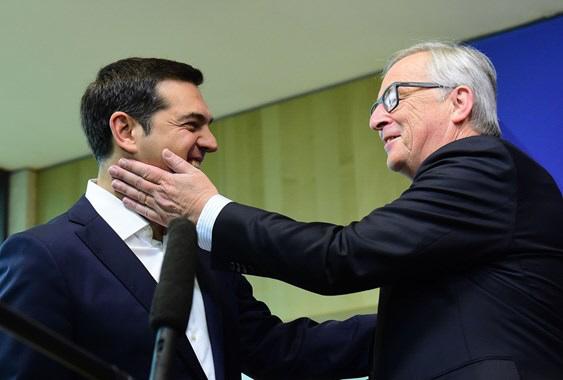 Alexis Tsipras et Jean-Claude Juncker en 2015