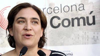 Ada Colau, maire de Barcelone, candidate de «Barcelone en commun»