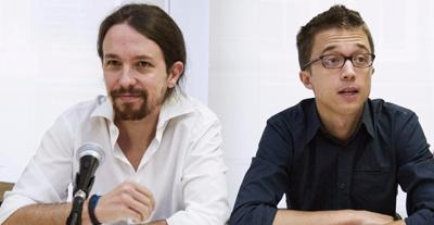Pablo Iglesias et Íñigo Errejón