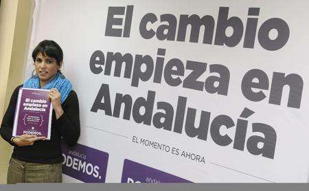 la-candidata-de-podemos-a-la-presidencia-de-la-junta-de-andalucia-teresa-rodriguez-durante-la-presentacion-del-programa-electoral-efe