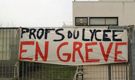 Mars 2015: grève des enseignants