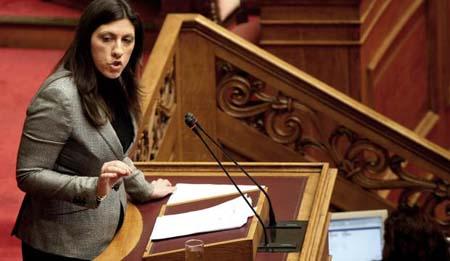 Zoé Kostantopoulou, présidente du parlement grec