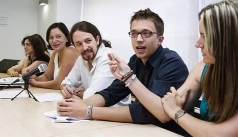Pablo Iglesias et Iñigo Errejón, au «centre»...