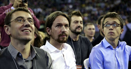 Juan Carlos Monedero, Pablo Iglesias, Iñigo Errejón
