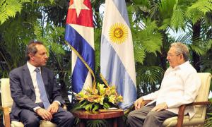 Daniel Scioli et Raoul Castro, le 23 juillet 2015
