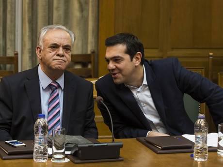 Yannis Dragasakis, un  homme «clé», et Alexis Tsipras
