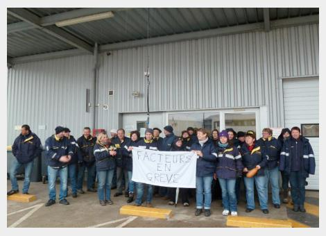 Grève à la Poste: centre de courrier de Valdahon, mars 2015