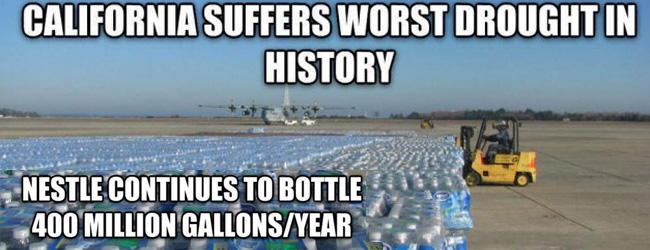 Californie. La sécheresse, la politique du PPP et l'eau en bouteille de Nestlé
